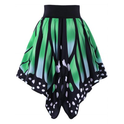 High Waist Butterfly Shape SkirtSkirts<br>High Waist Butterfly Shape Skirt<br><br>Length: Knee-Length<br>Material: Polyester<br>Package Contents: 1 x Skirt<br>Pattern Type: Insect<br>Season: Summer<br>Silhouette: Asymmetrical<br>Weight: 0.3000kg