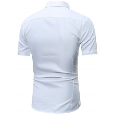 Button Down Short Sleeve Formal ShirtMens Shirts<br>Button Down Short Sleeve Formal Shirt<br><br>Collar: Turn-down Collar<br>Material: Cotton, Polyester<br>Package Contents: 1 x Shirt<br>Pattern Type: Stripe<br>Shirts Type: Formal Shirts<br>Sleeve Length: Short<br>Weight: 0.2800kg