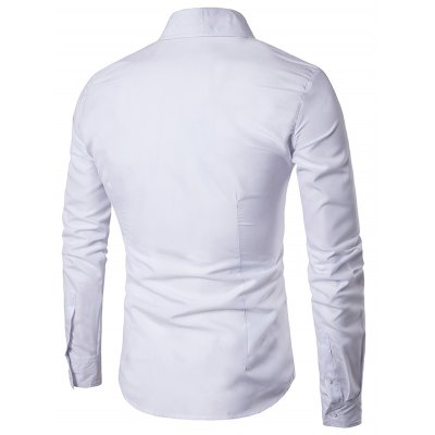 Turn Down Collar Slim Casual ShirtMens Shirts<br>Turn Down Collar Slim Casual Shirt<br><br>Collar: Turn-down Collar<br>Material: Cotton, Polyester<br>Package Contents: 1 x Shirt<br>Pattern Type: Solid<br>Shirts Type: Casual Shirts<br>Sleeve Length: Full<br>Weight: 0.2300kg