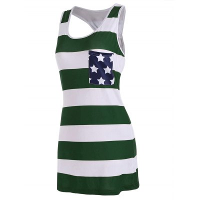 American Flag Bowknot Patriotic Racerback Tank DressSleeveless Dresses<br>American Flag Bowknot Patriotic Racerback Tank Dress<br><br>Dresses Length: Knee-Length<br>Elasticity: Elastic<br>Embellishment: Pockets<br>Material: Polyester<br>Neckline: U Neck<br>Occasion: Going Out, Beach and Summer, Outdoor<br>Package Contents: 1 x Dress<br>Season: Summer<br>Silhouette: Sheath<br>Sleeve Length: Sleeveless<br>Style: Casual<br>Waist: Natural<br>Weight: 0.2000kg<br>With Belt: No