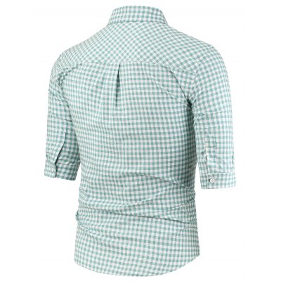 Turndown Collar Half Sleeve Pocket Plaid ShirtMens Shirts<br>Turndown Collar Half Sleeve Pocket Plaid Shirt<br><br>Collar: Turn-down Collar<br>Material: Cotton, Polyester<br>Package Contents: 1 x Shirt<br>Pattern Type: Plaid<br>Shirts Type: Casual Shirts<br>Sleeve Length: Half<br>Weight: 0.2490kg