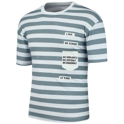 Letter Patch Stripe Tee