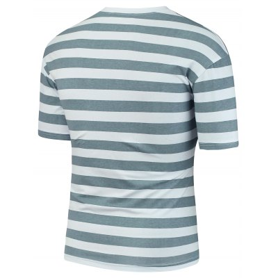 Letter Patch Stripe TeeMens Short Sleeve Tees<br>Letter Patch Stripe Tee<br><br>Collar: Crew Neck<br>Material: Cotton Blends, Polyester<br>Package Contents: 1 x T-Shirt<br>Pattern Type: Striped<br>Sleeve Length: Short<br>Style: Casual<br>Weight: 0.2500kg