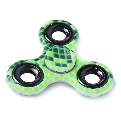 Stress Relief Toy Printed Finger Gyro Plastic Fidget Spinner