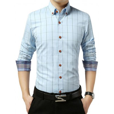 Slim Fit Long Sleeve Checkered Shirt