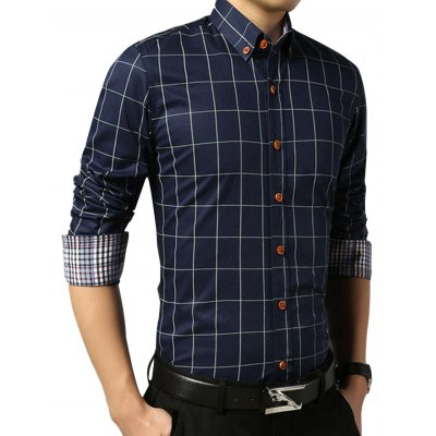 Slim Fit Long Sleeve Checkered ShirtMens Shirts<br>Slim Fit Long Sleeve Checkered Shirt<br><br>Collar: Turn-down Collar<br>Material: Cotton Blends, Polyester<br>Package Contents: 1 x Shirt<br>Pattern Type: Checkered<br>Shirts Type: Casual Shirts<br>Sleeve Length: Full<br>Weight: 0.3300kg