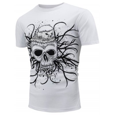 Skull Printed T-Shirt with Color Change Under The SunMens Short Sleeve Tees<br>Skull Printed T-Shirt with Color Change Under The Sun<br><br>Collar: Crew Neck<br>Material: Cotton, Polyester<br>Package Contents: 1 x T-Shirt<br>Pattern Type: Skulls<br>Sleeve Length: Short<br>Style: Streetwear, Fashion, Casual<br>Weight: 0.2500kg