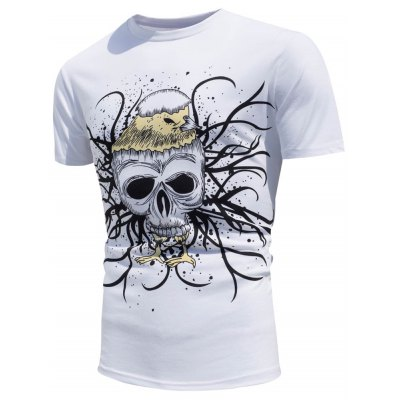 Skull Printed T-Shirt with Color Change Under The Sun