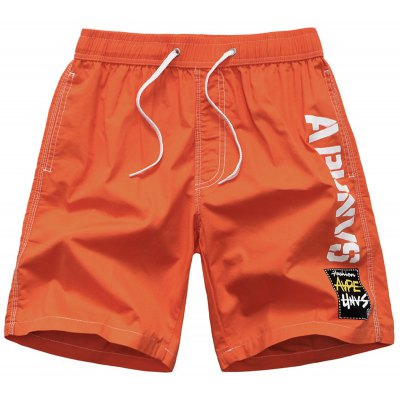 Graphic Printed Side Pocket Design Board Shorts