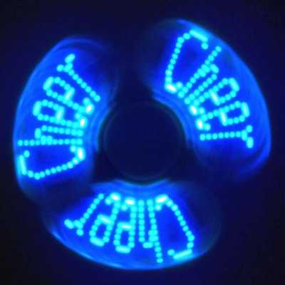 Stress Reliever Fidget Spinner with Letters LED Light