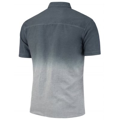 Short Sleeve Summer Button Down Ombre ShirtMens Short Sleeve Tees<br>Short Sleeve Summer Button Down Ombre Shirt<br><br>Collar: Turn-down Collar<br>Material: Cotton, Polyester<br>Package Contents: 1 x Shirt<br>Pattern Type: Ombre<br>Shirts Type: Casual Shirts<br>Sleeve Length: Short<br>Weight: 0.2300kg