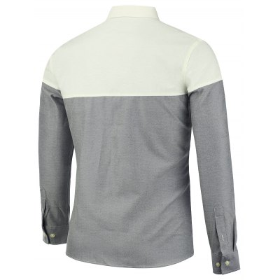 Color Block Long Sleeve Casual ShirtMens Shirts<br>Color Block Long Sleeve Casual Shirt<br><br>Collar: Turn-down Collar<br>Material: Cotton, Polyester<br>Package Contents: 1 x Shirt<br>Pattern Type: Patchwork<br>Shirts Type: Casual Shirts<br>Sleeve Length: Full<br>Weight: 0.3700kg