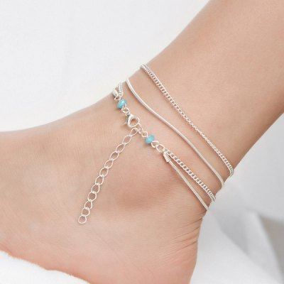 Vintage Multilayered Beads Chain Anklet