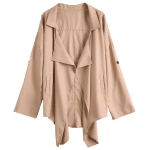 Pointed Hem Plus Size Trench Coat deal