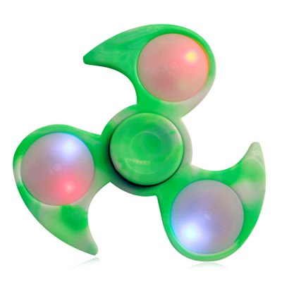 Tri-bar Plastic Fidget Spinner with Flashing LED Lights
