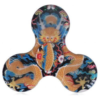 Dragon Patterned Plastic Fidget Spinner with LED Lights