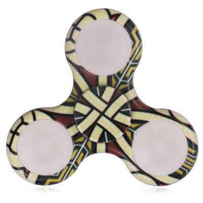 Mandala Patterned Plastic Finger Spinner with LED Lights