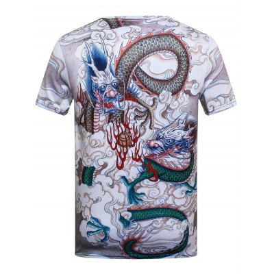 Slim Fit Dragon Printed T-shirtMens Short Sleeve Tees<br>Slim Fit Dragon Printed T-shirt<br><br>Collar: Crew Neck<br>Material: Polyester, Spandex<br>Package Contents: 1 x T-shirt<br>Pattern Type: Print<br>Sleeve Length: Short<br>Style: Fashion<br>Weight: 0.1990kg