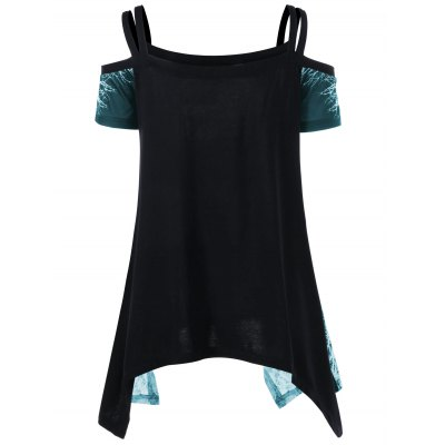 Open Shoulder Skull Handkerchief T-shirtTees<br>Open Shoulder Skull Handkerchief T-shirt<br><br>Collar: Off The Shoulder<br>Material: Polyester<br>Package Contents: 1 x T-shirt<br>Pattern Type: Skull<br>Season: Summer<br>Shirt Length: Regular<br>Sleeve Length: Short<br>Style: Casual<br>Weight: 0.2700kg
