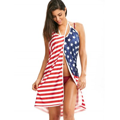 Patriotic Cover Up American Flag Slip DressWomens Swimwear<br>Patriotic Cover Up American Flag Slip Dress<br><br>Cover-Up Type: Dress<br>Elasticity: Elastic<br>Gender: For Women<br>Material: Polyester, Spandex<br>Neckline: Spaghetti Straps<br>Package Contents: 1 x Cover Up Dress<br>Pattern Type: Striped, Star<br>Sleeve Length: Sleeveless<br>Waist: Natural<br>Weight: 0.3000kg