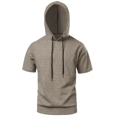 Side Slit High Low Hooded TeeMens Short Sleeve Tees<br>Side Slit High Low Hooded Tee<br><br>Collar: Hooded<br>Material: Polyester, Spandex<br>Package Contents: 1 x Tee<br>Pattern Type: Solid<br>Sleeve Length: Short<br>Style: Casual<br>Weight: 0.3300kg
