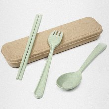 Healthy Wheat Straw 3 PCS Creative Tableware Set
