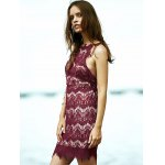 Stylish Spaghetti Straps Red Lace Women's Dress for sale