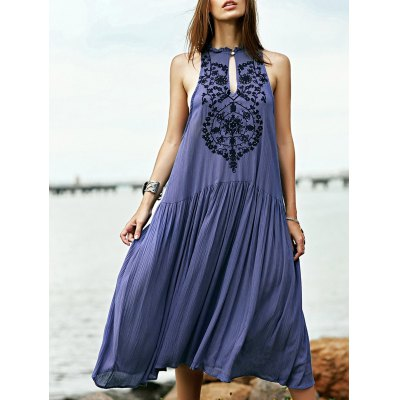 Bohemian Embroidered Beaded Women's Dress