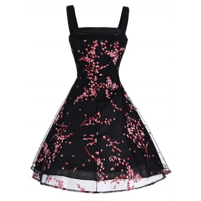 Retro Floral Print Bowknot Flare DressMini Dresses<br>Retro Floral Print Bowknot Flare Dress<br><br>Dresses Length: Knee-Length<br>Material: Polyester<br>Neckline: Square Collar<br>Package Contents: 1 x Dress<br>Pattern Type: Floral<br>Season: Summer<br>Silhouette: A-Line<br>Sleeve Length: Sleeveless<br>Style: Vintage<br>Weight: 0.2300kg<br>With Belt: No