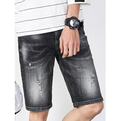 Zipper Fly Faded Ripped Jean ShortsMens Shorts<br>Zipper Fly Faded Ripped Jean Shorts<br><br>Closure Type: Zipper Fly<br>Fit Type: Regular<br>Front Style: Flat<br>Length: Bermuda<br>Material: Cotton, Jean<br>Package Contents: 1 x Jean Shorts<br>Style: Fashion<br>Waist Type: Mid<br>Weight: 0.4400kg<br>With Belt: No