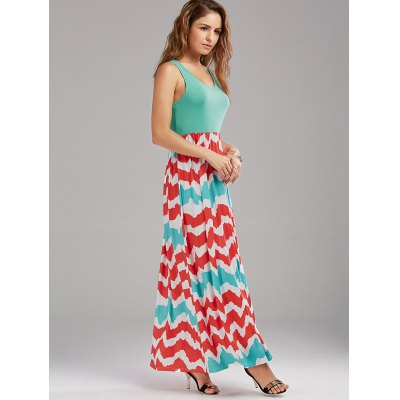 High Waist Zig Zag Sleeveless Maxi DressMaxi Dresses<br>High Waist Zig Zag Sleeveless Maxi Dress<br><br>Dress Type: Tank Dress<br>Dresses Length: Floor-Length<br>Material: Cotton, Polyester<br>Neckline: U Neck<br>Package Contents: 1 x Dress<br>Pattern Type: Chevron/Zig Zag<br>Season: Summer<br>Silhouette: A-Line<br>Sleeve Length: Sleeveless<br>Style: Casual<br>Weight: 0.3500kg<br>With Belt: No