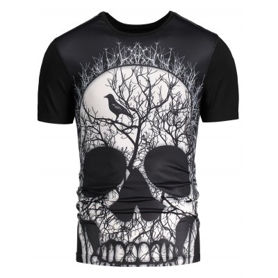 3D Skull Printed Short Sleeves T-shirtMens Short Sleeve Tees<br>3D Skull Printed Short Sleeves T-shirt<br><br>Collar: Round Neck<br>Material: Polyester, Spandex<br>Package Contents: 1 x T-shirt<br>Pattern Type: Skulls<br>Sleeve Length: Short<br>Weight: 0.2000kg