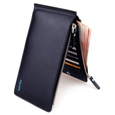 Faux Leather Bifold Organizer Wallet
