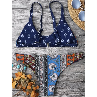 Patchwork Print Scoop Neck Bikini SetWomens Swimwear<br>Patchwork Print Scoop Neck Bikini Set<br><br>Bra Style: Padded<br>Elasticity: Elastic<br>Gender: For Women<br>Material: Nylon, Polyester, Spandex<br>Neckline: Scoop Neck<br>Package Contents: 1 x Top  1 x Bottoms<br>Pattern Type: Floral<br>Support Type: Wire Free<br>Swimwear Type: Bikini<br>Waist: Low Waisted<br>Weight: 0.2000kg