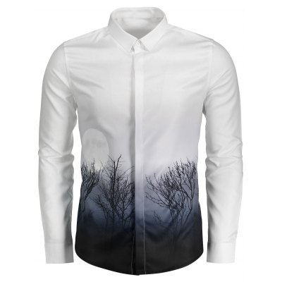 Cover Placket 3D Ombre Plant Moon Print ShirtMens Shirts<br>Cover Placket 3D Ombre Plant Moon Print Shirt<br><br>Collar: Turndown Collar<br>Material: Cotton, Polyester<br>Package Contents: 1 x Shirt<br>Pattern Type: Moon, Plant<br>Shirts Type: Casual Shirts<br>Sleeve Length: Full<br>Weight: 0.4000kg