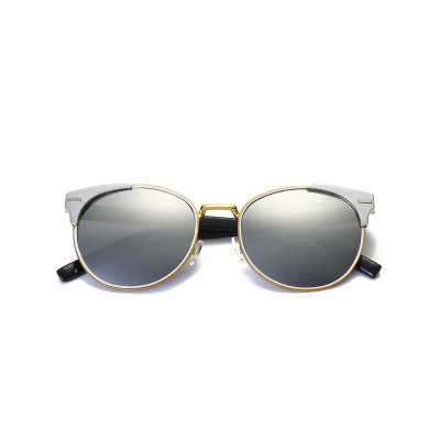 Round Mirrored Cat Eye Retro SunglassesStylish Sunglasses<br>Round Mirrored Cat Eye Retro Sunglasses<br><br>Frame Length: 14.2CM<br>Frame material: Other<br>Gender: For Women<br>Group: Adult<br>Lens height: 5.0CM<br>Lens material: Resin<br>Lens width: 5.6CM<br>Nose: 1.9CM<br>Package Contents: 1 x Sunglasses<br>Shape: Cat Eye<br>Style: Fashion<br>Temple Length: 14.4CM<br>Weight: 0.0806kg