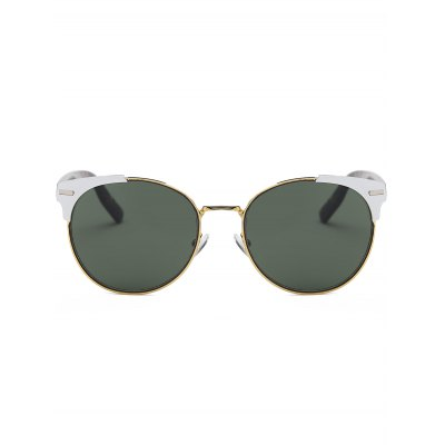 Retro Round Metal Spliced Cat Eye SunglassesStylish Sunglasses<br>Retro Round Metal Spliced Cat Eye Sunglasses<br><br>Frame Length: 14.2CM<br>Frame material: Other<br>Gender: For Women<br>Group: Adult<br>Lens height: 5.0CM<br>Lens material: Resin<br>Lens width: 5.6CM<br>Nose: 1.9CM<br>Package Contents: 1 x Sunglasses<br>Shape: Cat Eye<br>Style: Fashion<br>Temple Length: 14.4CM<br>Weight: 0.0810kg