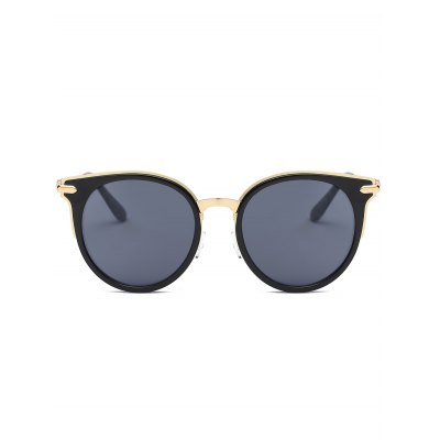 Cat Eye Metal Splicing Leg Round SunglassesStylish Sunglasses<br>Cat Eye Metal Splicing Leg Round Sunglasses<br><br>Frame Length: 14.1CM<br>Frame material: Other<br>Gender: For Women<br>Group: Adult<br>Lens height: 5.3CM<br>Lens material: Resin<br>Lens width: 5.9CM<br>Nose: 1.8CM<br>Package Contents: 1 x Sunglasses<br>Shape: Cat Eye<br>Style: Fashion<br>Temple Length: 13.6CM<br>Weight: 0.0762kg