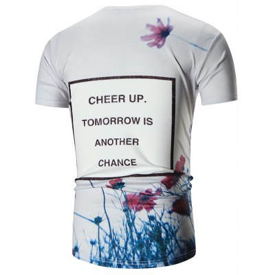 Crew Neck Floral Print Graphic TeeMens Short Sleeve Tees<br>Crew Neck Floral Print Graphic Tee<br><br>Collar: Crew Neck<br>Material: Polyester<br>Package Contents: 1 x Tee<br>Pattern Type: Floral<br>Sleeve Length: Short<br>Style: Casual<br>Weight: 0.2600kg