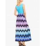 Sleeveless Maxi Dress with Ombre Zigzag Print deal