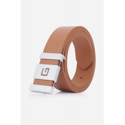 Stylish Letter G and Cut Out Design Buckle Casual PU Belt For Men