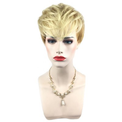 Short Side Bang Silky Straight Pixie Synthetic Wig