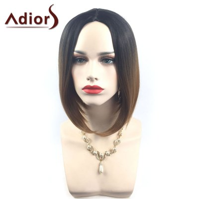 Adiors Middle Parting Ombre Straight Short Bob Synthetic WigSynthetic Wigs<br>Adiors Middle Parting Ombre Straight Short Bob Synthetic Wig<br><br>Bang Type: Middle<br>Cap Construction: Capless<br>Length: Short<br>Length Size(CM): 36<br>Material: Synthetic Hair<br>Package Contents: 1 x Wig<br>Style: Straight<br>Type: Full Wigs<br>Weight: 0.1800kg