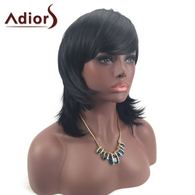 Adiors Medium Layered Tail Upwards Side Bang Silky Straight Synthetic WigSynthetic Wigs<br>Adiors Medium Layered Tail Upwards Side Bang Silky Straight Synthetic Wig<br><br>Bang Type: Side<br>Cap Construction: Capless<br>Length: Medium<br>Length Size(CM): 40<br>Material: Synthetic Hair<br>Package Contents: 1 x Wig<br>Style: Straight<br>Type: Full Wigs<br>Weight: 0.2050kg