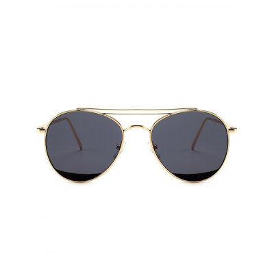 Double Metal Crossbar Anti UV Pilot SunglassesStylish Sunglasses<br>Double Metal Crossbar Anti UV Pilot Sunglasses<br><br>Frame Color: Gold<br>Frame Length: 14.6CM<br>Frame material: Other<br>Gender: For Women<br>Group: Adult<br>Lens height: 5.0CM<br>Lens material: Resin<br>Lens width: 5.5CM<br>Nose: 1.8CM<br>Package Contents: 1 x Sunglasses<br>Shape: Pilot<br>Style: Fashion<br>Temple Length: 14.6CM<br>Weight: 0.1022kg
