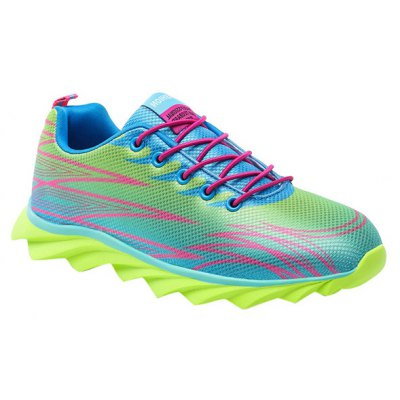 Fashion Lace-Up and Color Splicing Design Athletic Shoes For Men