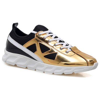 Trendy Color Block and Splice Design Athletic Shoes For Men