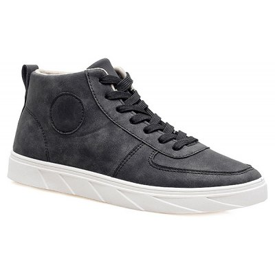 Fashionable PU Leather and Tie Up Design Casual Shoes For Men