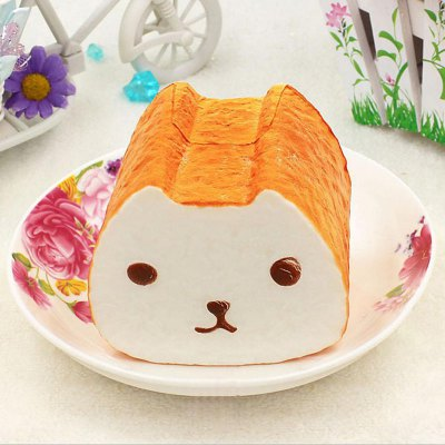 1Pcs PU Squishy Food Toy Simulation Bread Model