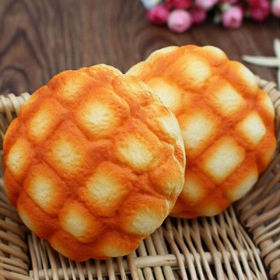 Pineapple Bread Slow Rising Squishy ToySquishy toys<br>Pineapple Bread Slow Rising Squishy Toy<br><br>Features: Creative Toy<br>Materials: PU<br>Package Contents: 1 x Squishy Toy<br>Products Type: Squishy Toys<br>Shape/Pattern: Food<br>Size(CM): 10 x 10 x 3.5 cm<br>Theme: Funny<br>Weight: 0.0880kg